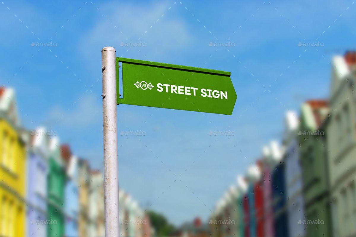 Street Sign Mock Up Bundle Street Signs Signs Sign Mockup