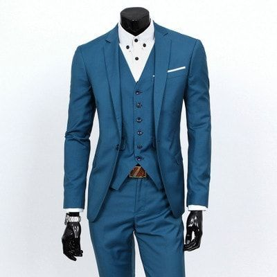 2016 New Men Suits One-Buckle Formal Men Suit Set Wedding Suits ...