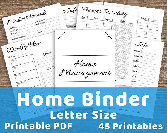 Home Management Binder Free Printables 2020.Home Management Binder Printable Household Binder Printable