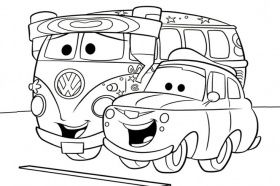 Fillmore And Luigi Bus Coloring Page Disney Coloring Pages