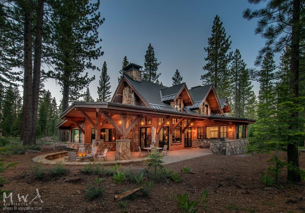 Martis Camp Tahoe Lodge Covered Wrap Around Porch