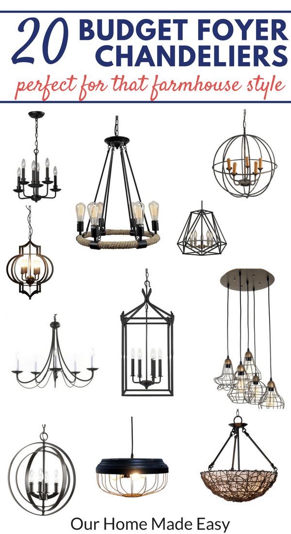 20 Budget Foyer Chandeliers All Our Home
