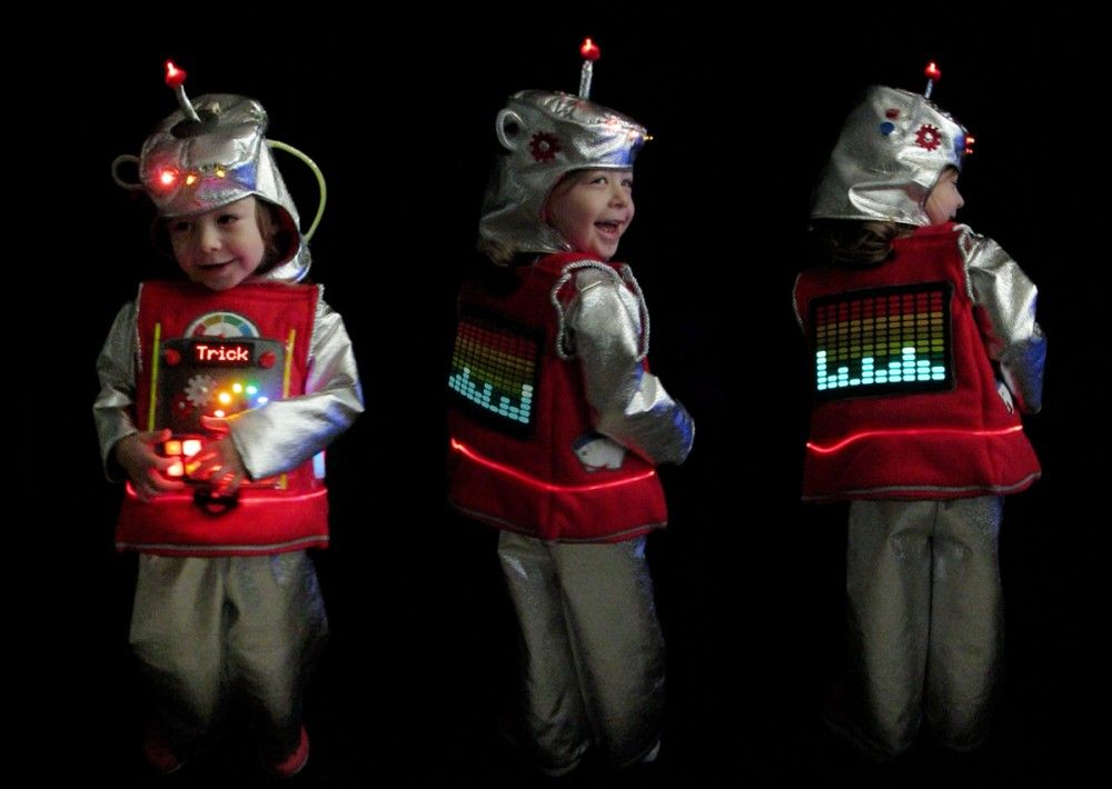 make the worlds best robot costume kids would actually love our friend stephanie segall of imagine our life shows us her recipe for a homemade led robot costume solutioingenieria Gallery