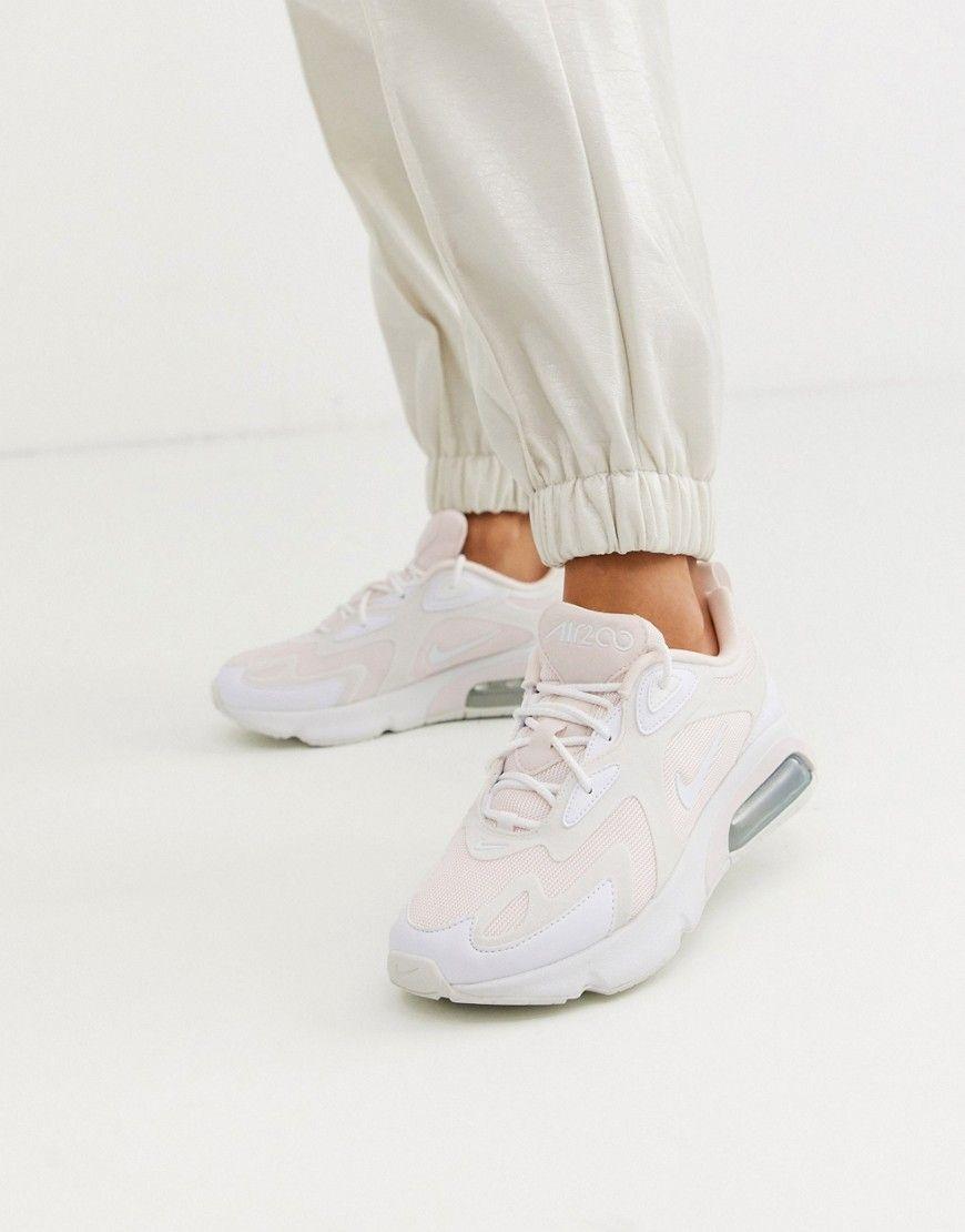 NIKE NIKE WHITE AND BLACK AIR MAX 200 SNEAKERS. #nike #shoes