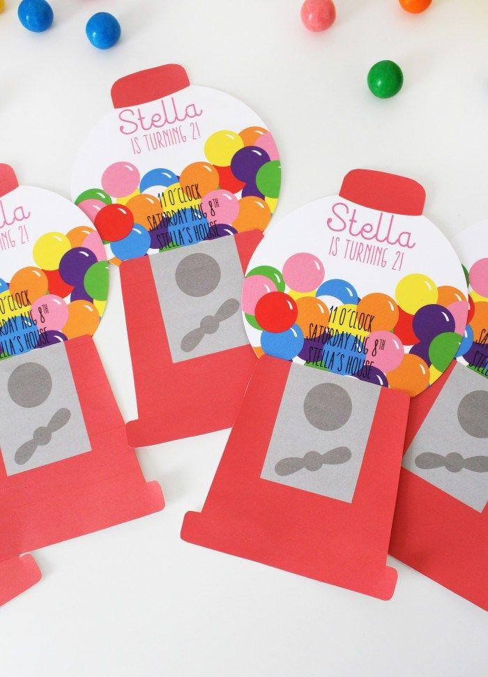 Gumball Machine Invitations | Gumball machine, Gumball and Joyful