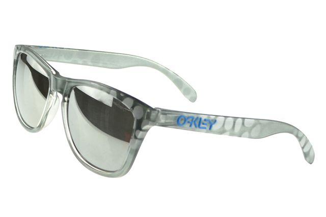 Oakley Frogskin Sunglasses Silver Frame Black Lens