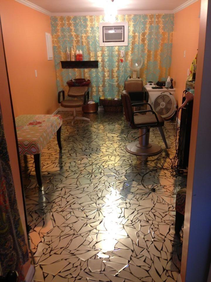 broken mirror floor | Floors | Pinterest | Broken mirror floor ...