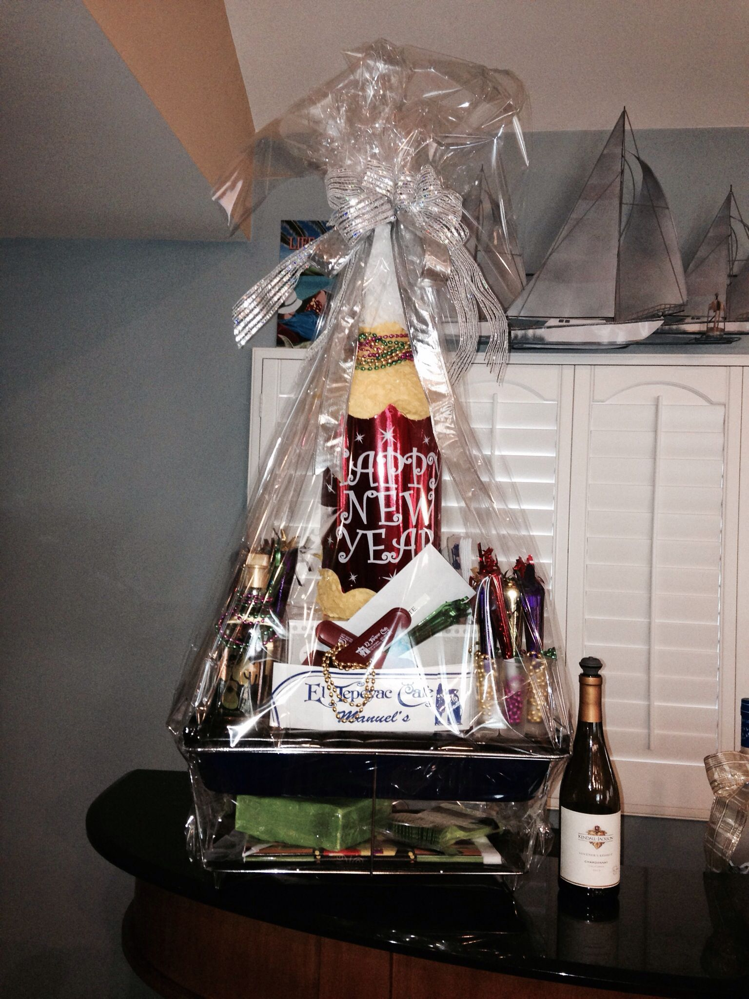 New Years Silent Auction Basket   PIN THERE; DONE THAT ...