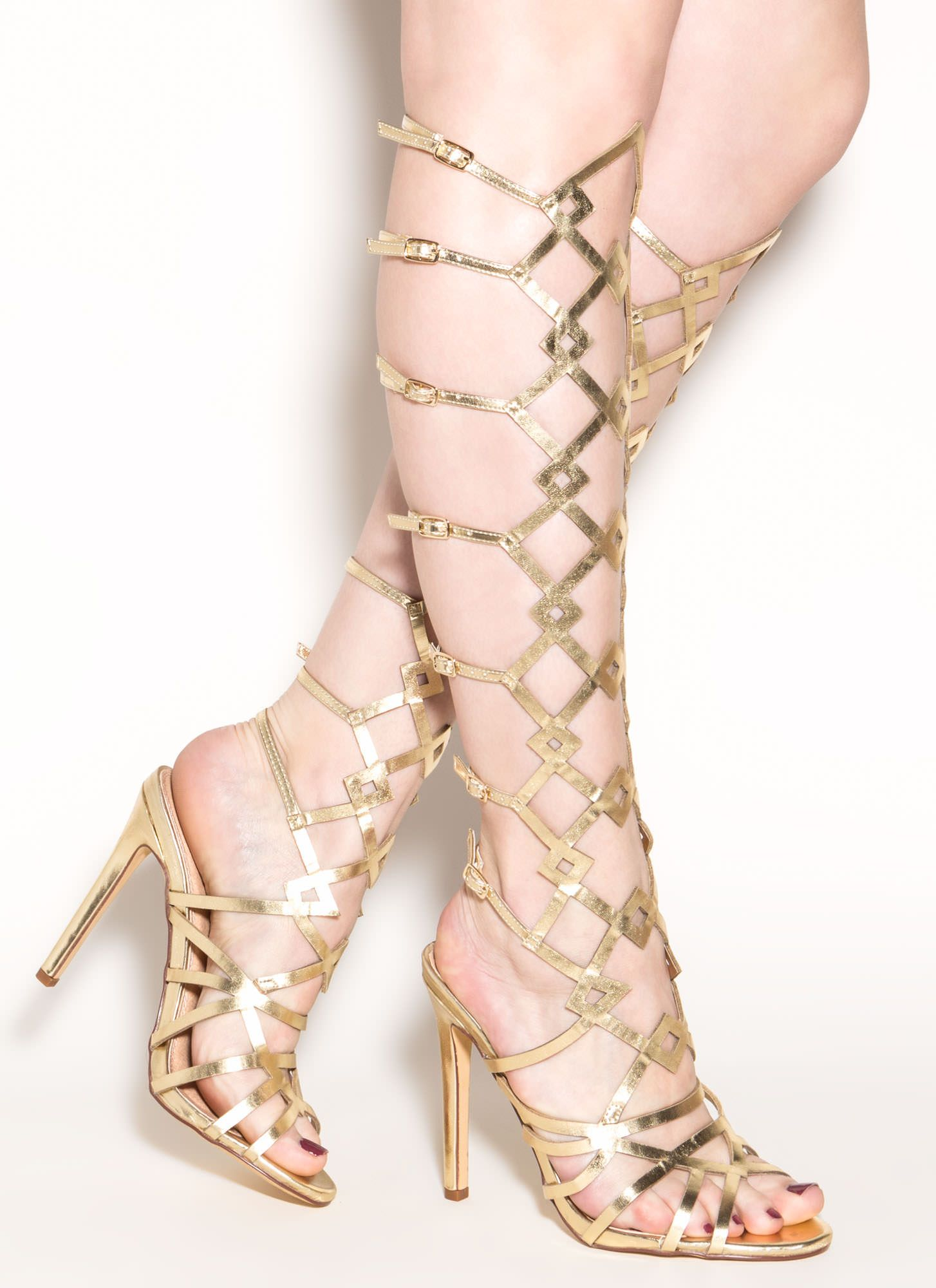 Art Walk Metallic Gladiator Heels GOLD | Fashion Must Haves ...