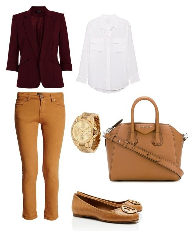 """""""Look"""" by maria-alejandra-mora-oviedo on Polyvore featuring Equipment, Tory Burch, Michael Kors, Morgan and Givenchy"""