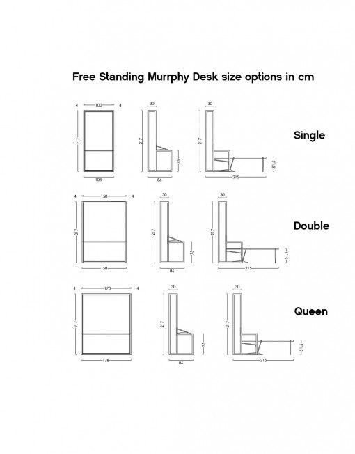 Compatto Freestanding Murphy Bed Desk In 2018 Tiny House