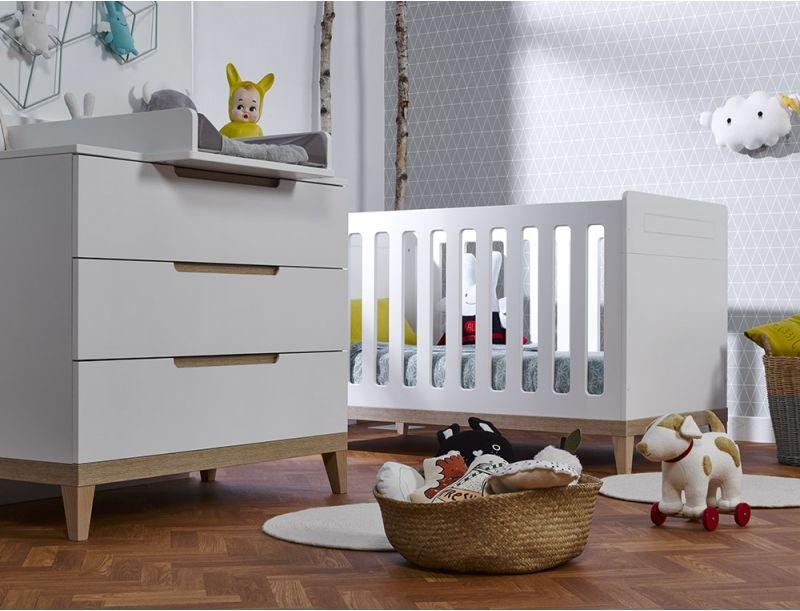 Petite chambre bébé Evidence Blanc/Hêtre | Room