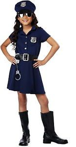 Cute Cop Police Officer Girls Child Costume