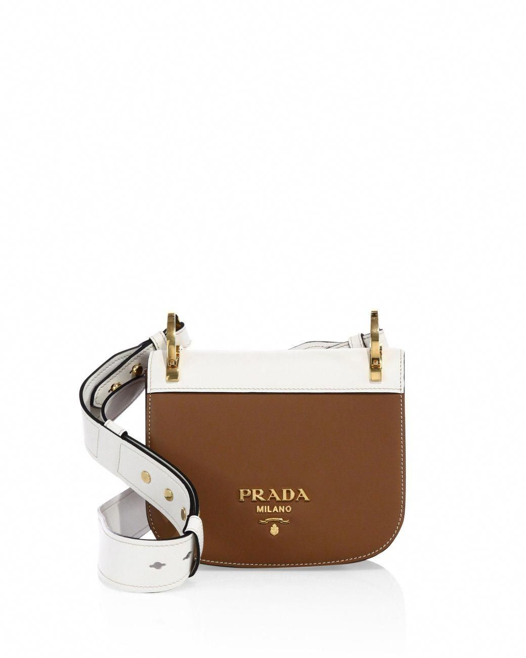 32c2200145ba Prada - Brown Pionniere Leather Saddle Bag - Lyst #Pradahandbags  #leathersaddlebagpurse #crossbodysaddlebag