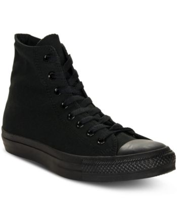 47922f95afcd Converse Men s Monochrome Chuck Taylor Hi Top Casual Sneakers from Finish  Line - Black 10.5