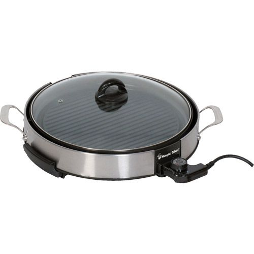 """Magic Chef 14"""" Stainless Steel Electric Grill Walmart"""