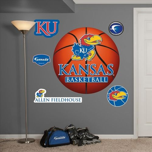 Kansas Jayhawks Basketball Logo Fathead Kansas Jayhawks Basketball Jayhawks Basketball Kansas Basketball