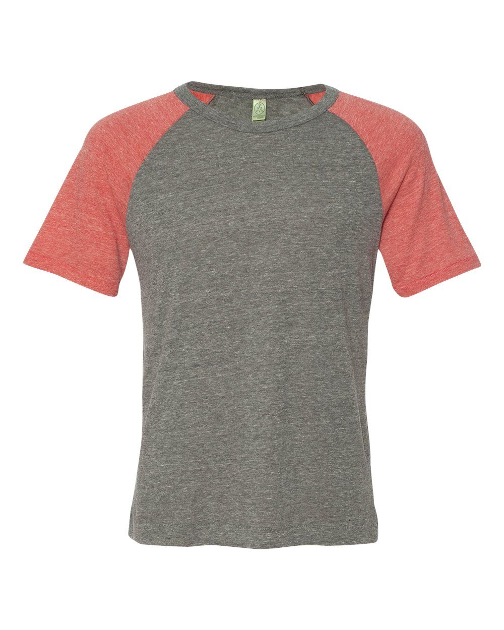 Alternative Eco Grey And Eco Red Unisex Eco-Jersey Gym Rat T-Shirt - 32000