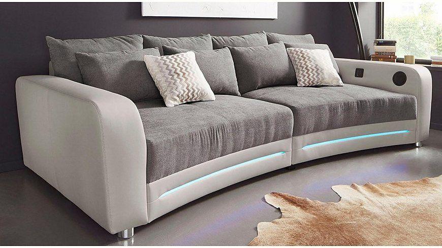 Big-Sofa, inklusive RGB-LED-Beleuchtung, Energieeffizienz A Jetzt - beleuchtung für wohnzimmer