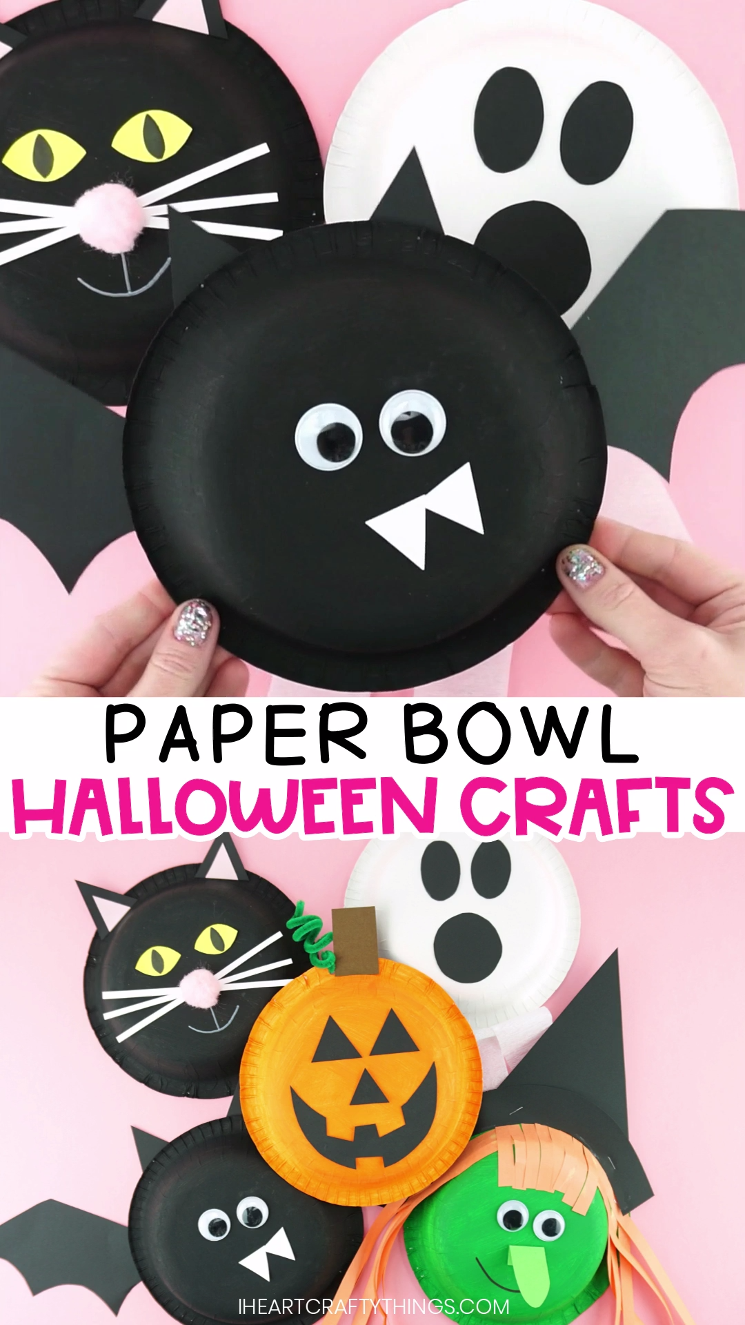 Paper Bowl Halloween Crafts for Kids #halloweencraftsforkids