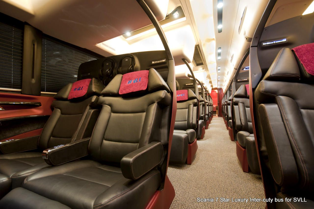 Volvo luxury bus interior - 7 Star Luxury Bus Introduced In India Know About Places To Visit At Www