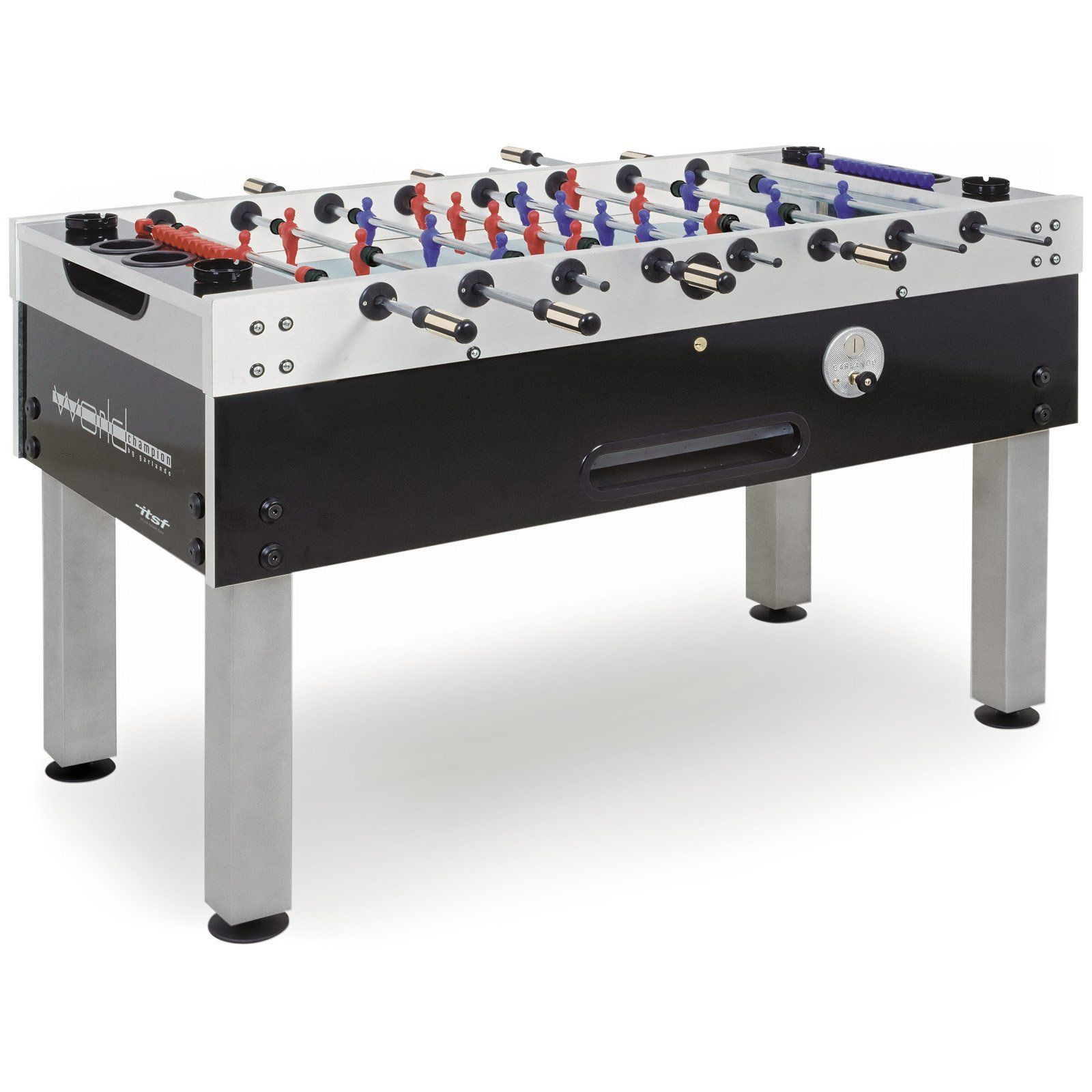 Foosball Table   Approved By The International Tournament Soccer  Federation, The Garlando World Champion Coin Op 59 In. Foosball Table Is  The Official Table ...
