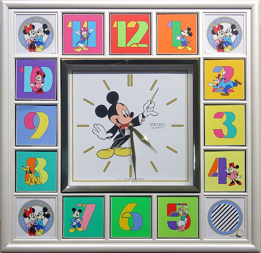 Seiko Disney Musical Mechanical Wall Clock Mickey Mouse