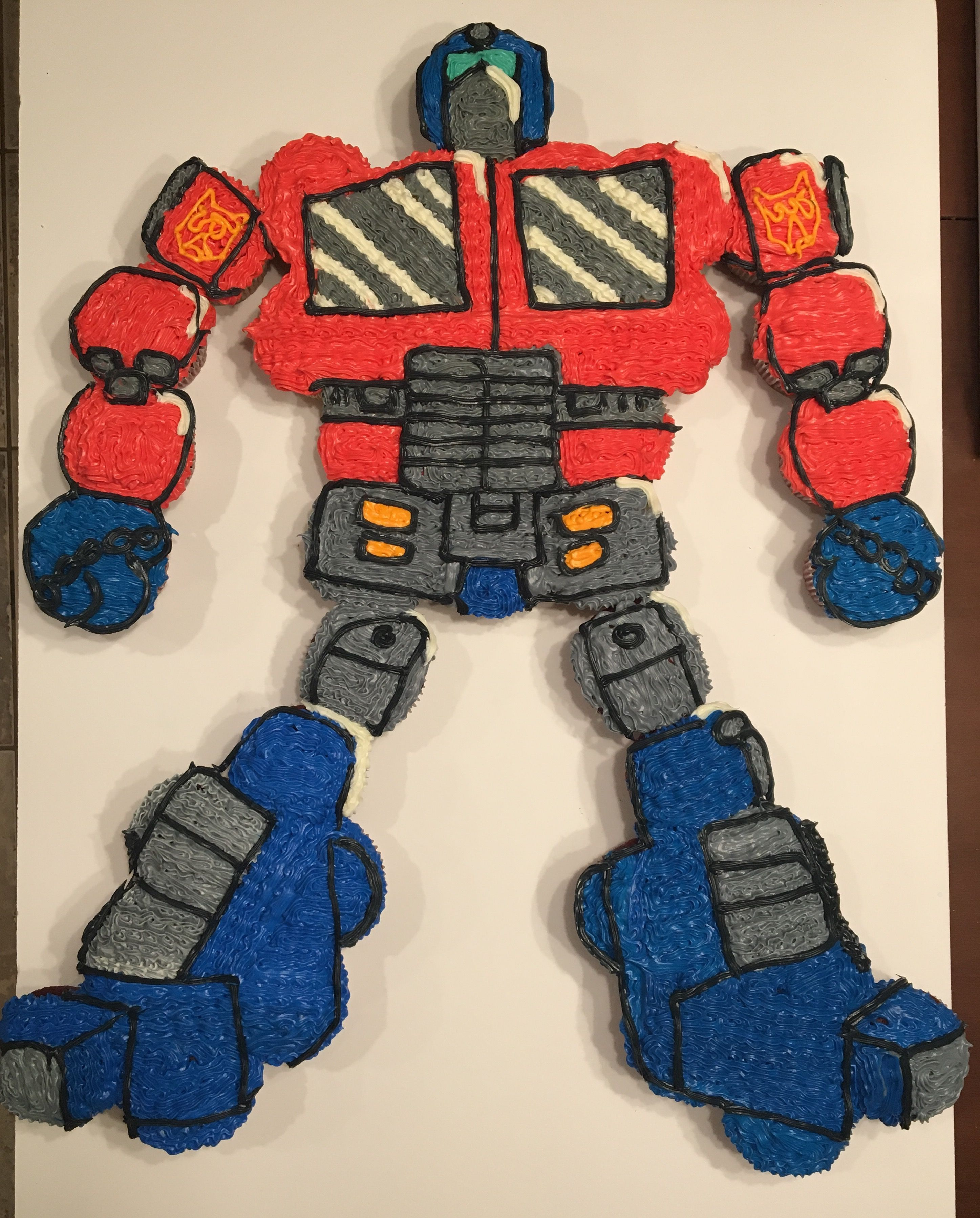 Optimus Prime Cupcake Cake