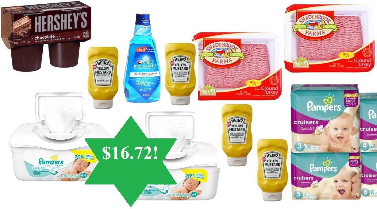 PAY $16.72 FOR $44 Pampers Diapers & Wipes, Ground Turkey, Mouthwash, Mustard & Hersheys Puddings!! - http://wp.me/p56Eop-Q7P