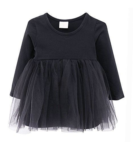 Guandiif Baby Girls Dresses Lace Long Sleeves Tulle Tutu Princess