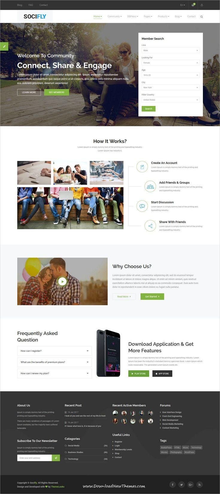 socifly multipurpose social network html5 template template