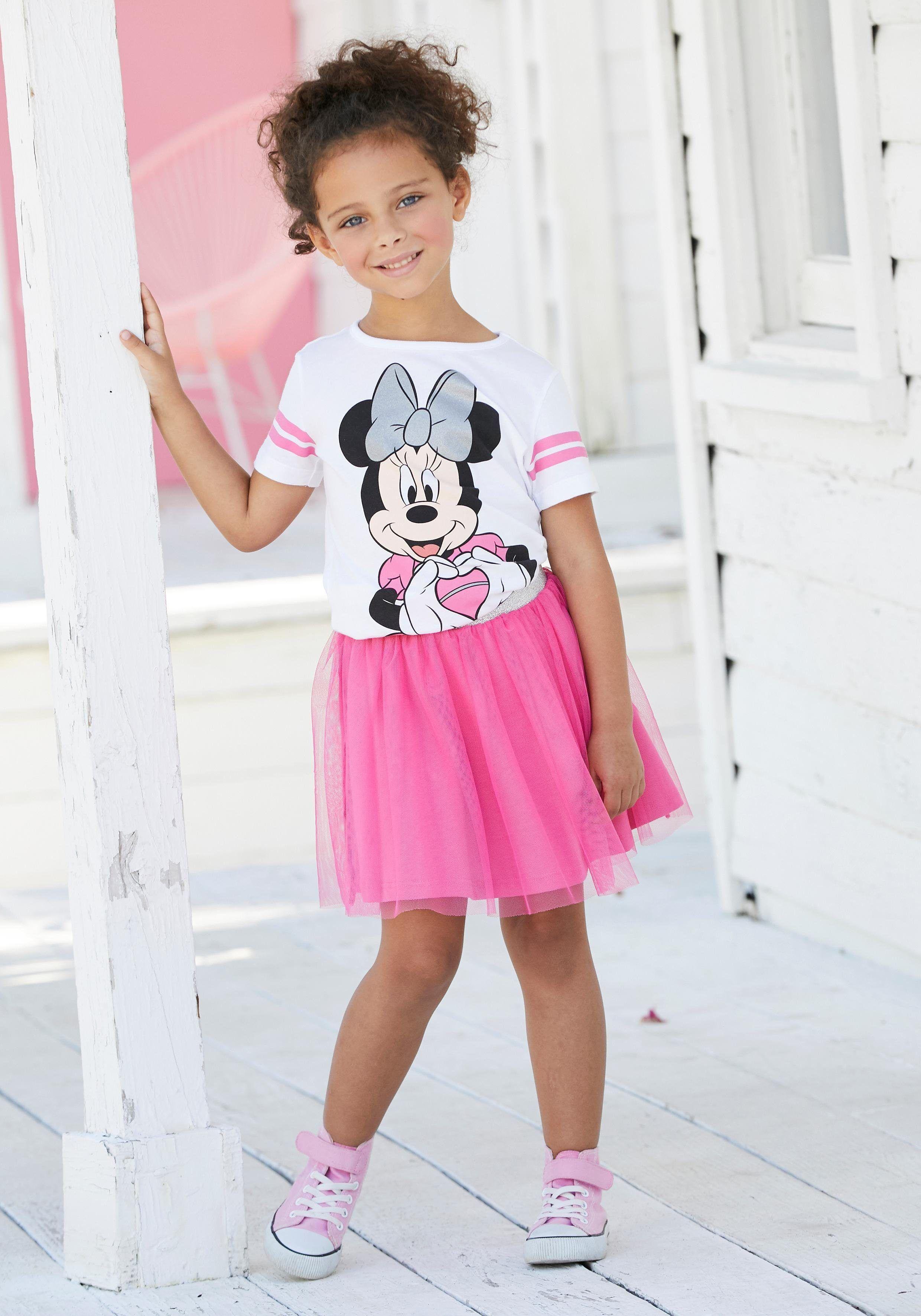 Hose 2Tlg Outfit Kinder Mädchen Winter Kleidung Minnie Maus Langarm Sweatshirt