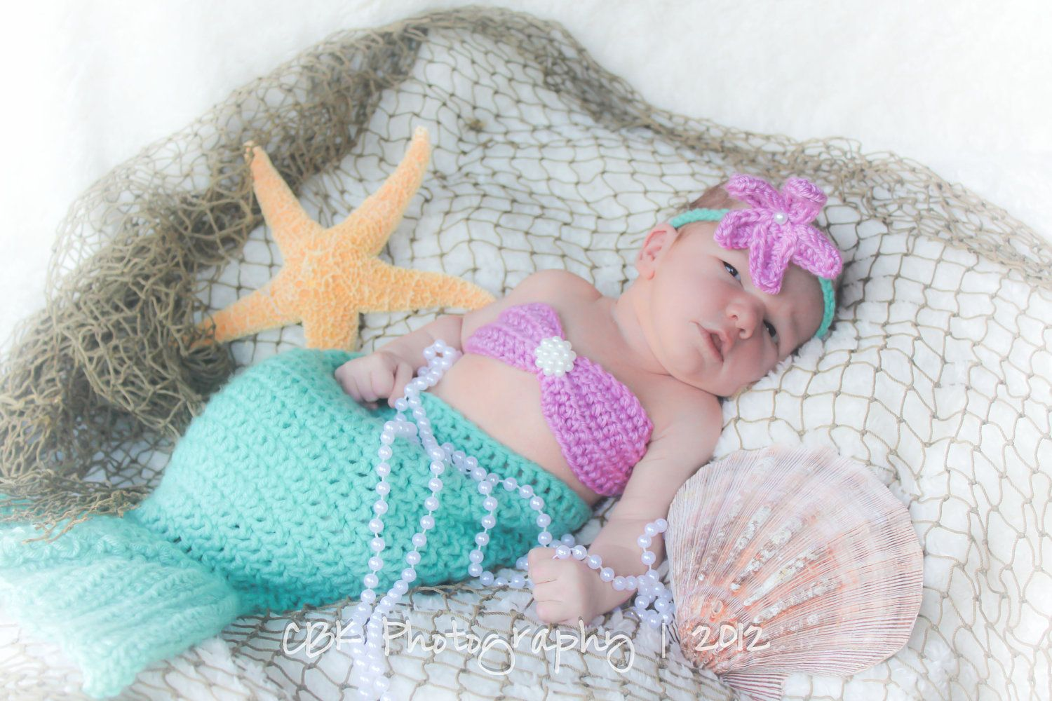 Crochet Pattern For Baby Mermaid Tail : Baby Photo Idea: Crocheted Baby Mermaid Outfit Mermaid ...