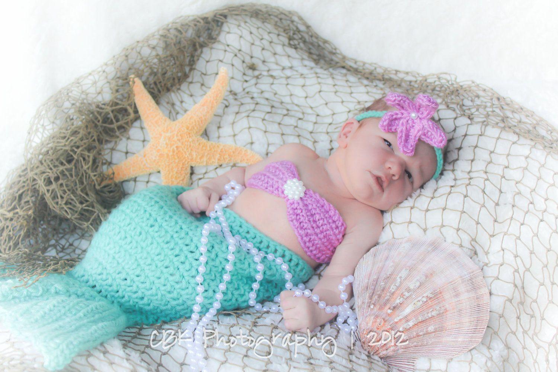 Baby Photo Idea Crocheted Baby Mermaid Outfit Mermaid Nursery