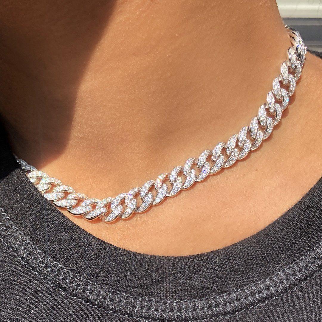 + COLLAR DE CADENA DE CRISTAL DE CHICAGO – – #accesoriesjewelry #beautifuljewelrydiy #b …