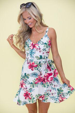 a059879a3b Miami Moments Floral Dress 30 Trajes