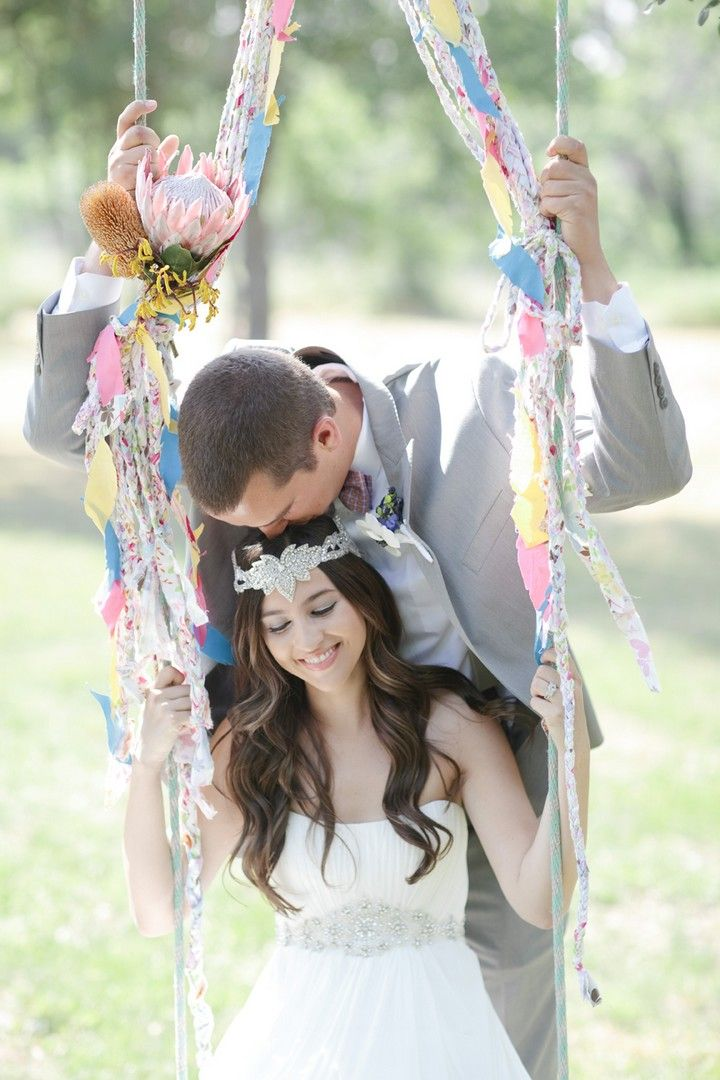 Kaci and Tad's Bohemian Wedding With Chevron Details by Joie Lala Photography