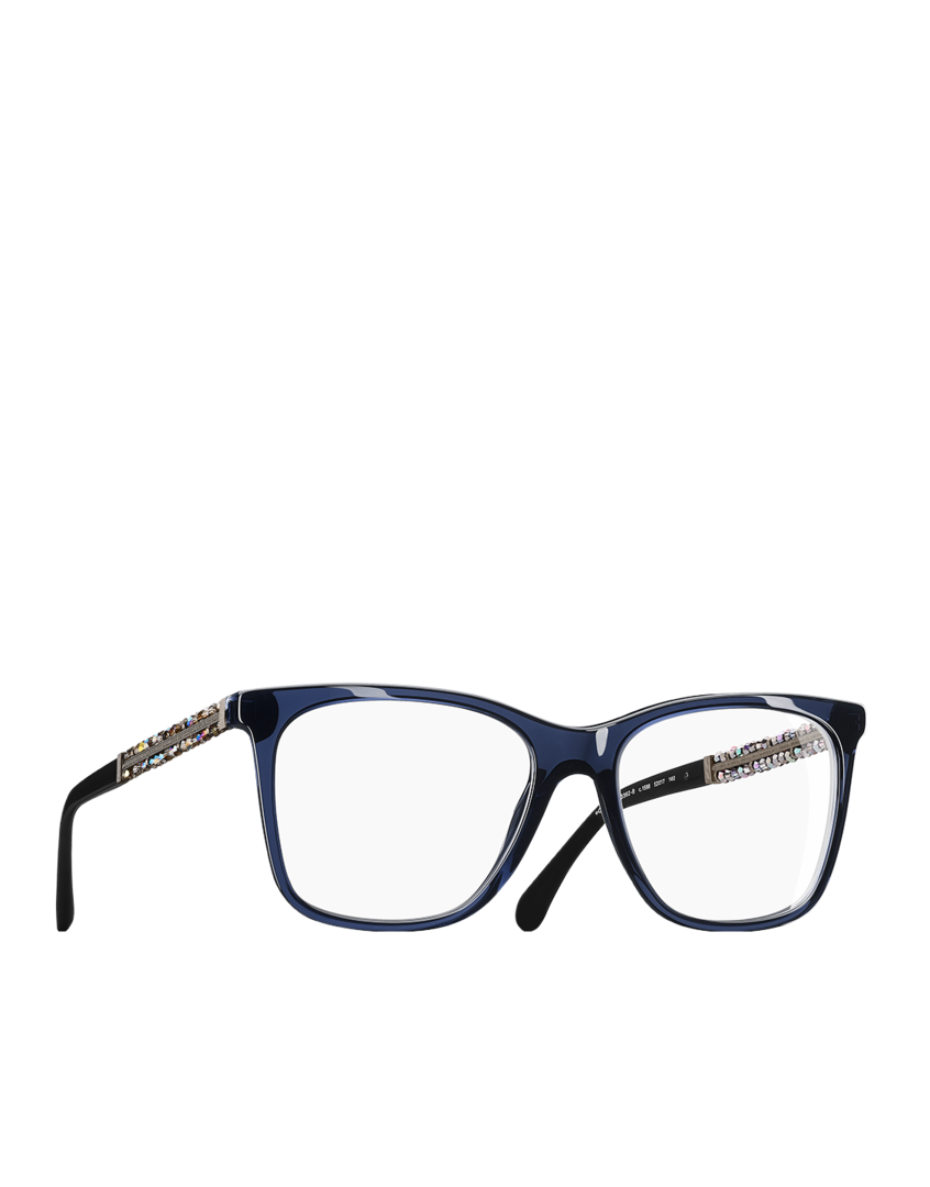 Óculos de grau quadrado, acetato   metal-azul escuro - CHANEL ... fd2649c575