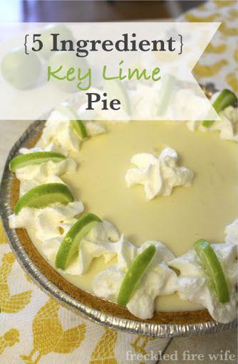 5 Ingredient Key Lime Pie Recipe Yummly Key Lime Pie Keylime Pie Recipe Key Line Pie Recipe
