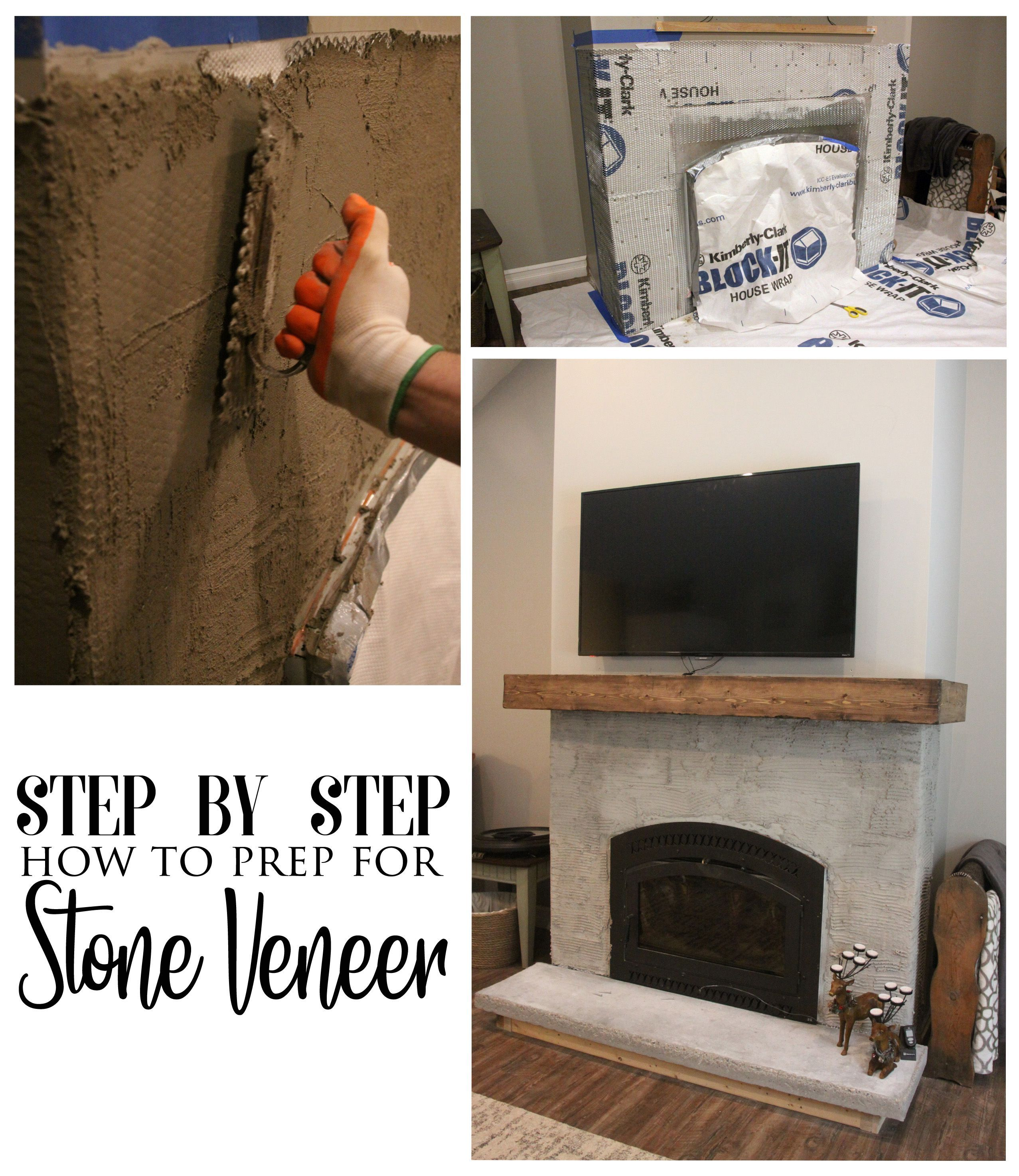 How To Prep For Stone Veneer Fireplace How To Install Stone