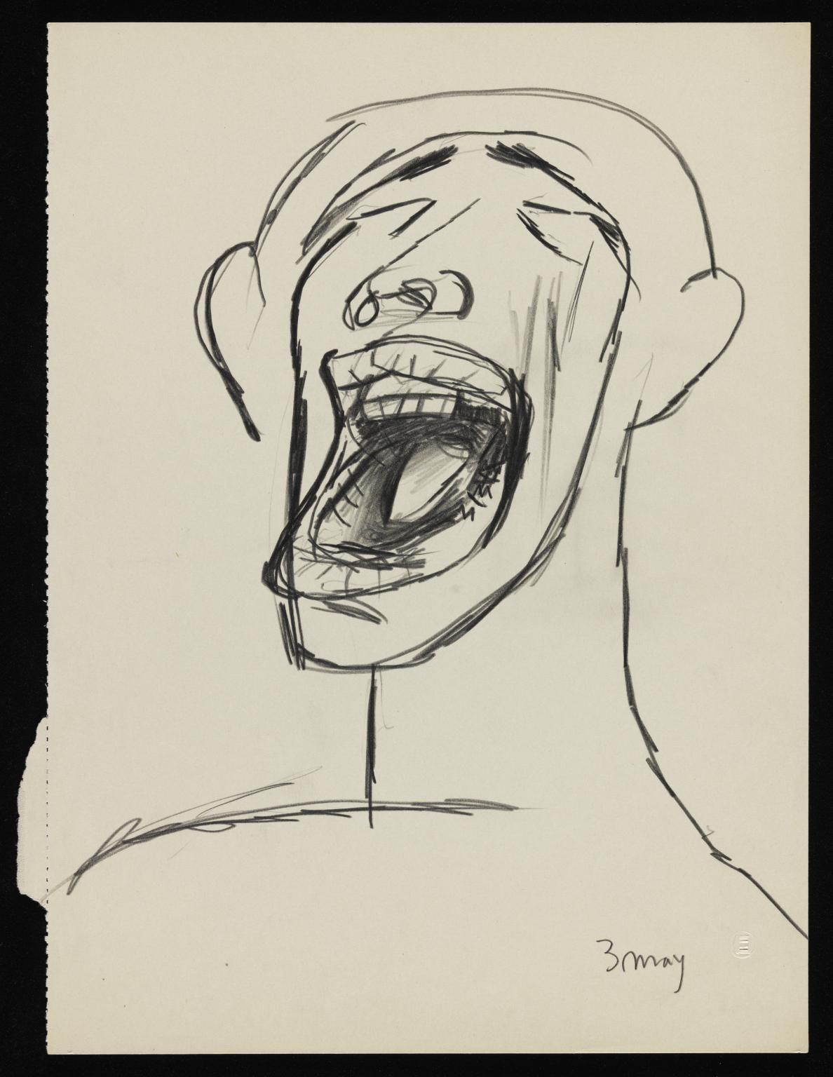 Item: Drawing of a man screaming | Tate | iLL in 2019