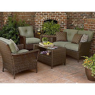 Ashton 4 Pc Envelope Woven Seating Set La Z Boy From Sears Outdoor Remodel Backyard Furniture Patio Furniture
