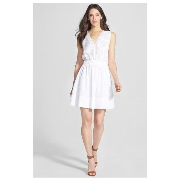 DIANE VON FURSTENBERG White Shilo Dress Size 10 NWT via Polyvore featuring dresses, white day dress, white dress, diane von furstenberg and diane von furstenberg dresses