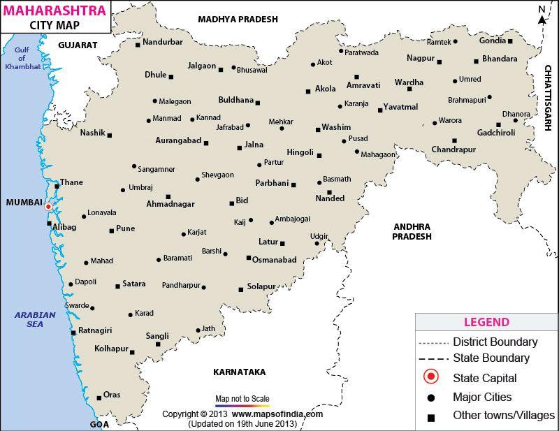 Maharashtra Cities Map | City Maps of India in 2019 | India ... on ajanta on map, goa map, bihar map, india map, nagaland map, arunachal pradesh map, madhya pradesh map, kashmir map, andhra pradesh map, west bengal map, aurangabad map, nagpur map, chhatrapati shivaji international airport map, meghalaya map, pune region map, punjab map, gujarat map, palghar district map, tripura map, mumbai map,