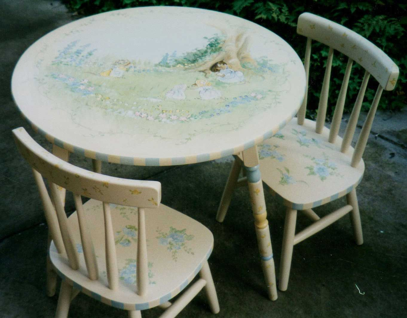 hand painted table set children\u0027s table and chairs child\u0027s painted table ... & hand painted table set children\u0027s table and chairs child\u0027s ...