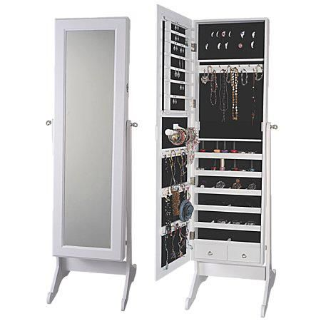 Love This Jewellery Cabinet From The Warehouse Jewelry Cabinet Mirror Jewellery Cabinet Jewelry Mirror