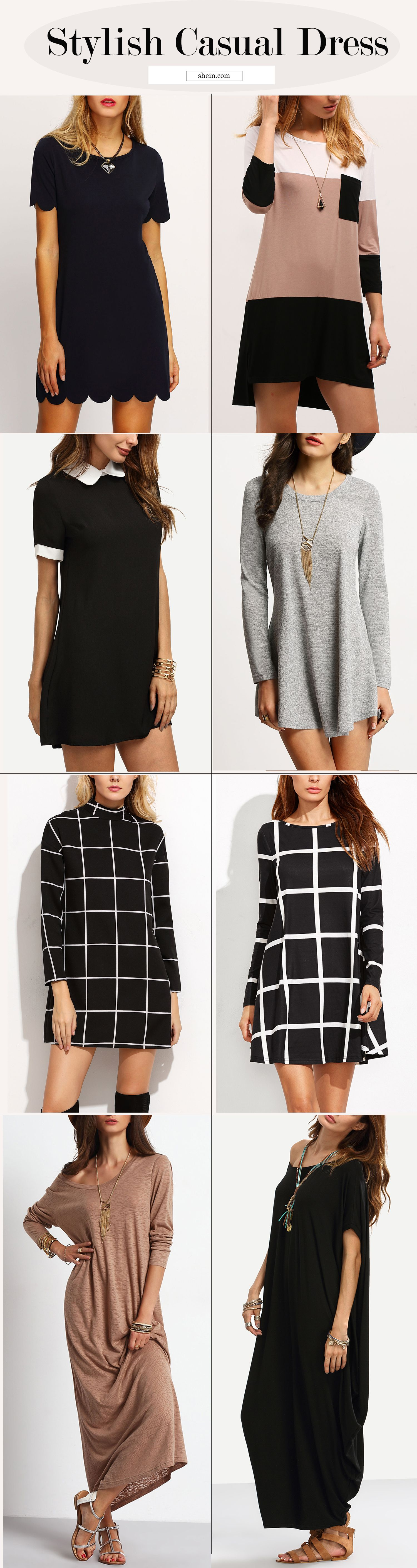 f755161b869c Simple casual dress for women work. Stylish hot sale dress at pinterest.