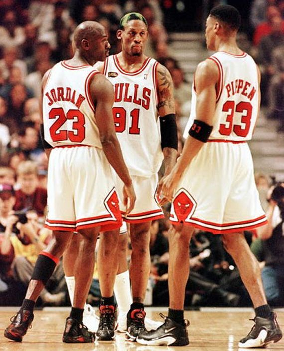 The Chicago Bulls championship teams of