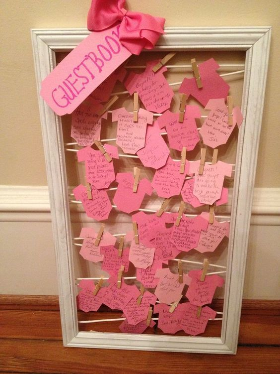 DIY Baby Shower Decorations for a Girl – Guest Book