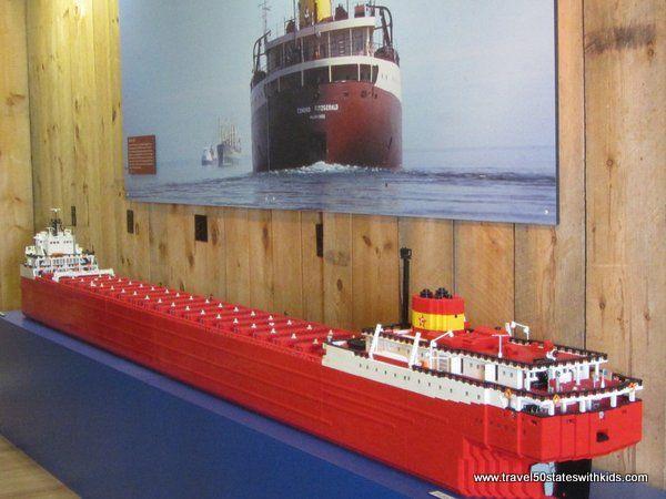 Edmund Fitgerald made of LEGO bricks
